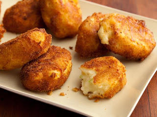 Thanksgiving Leftover Recipes - FamilyFreshMeals.com - Potato Croquettes; Paula Deen