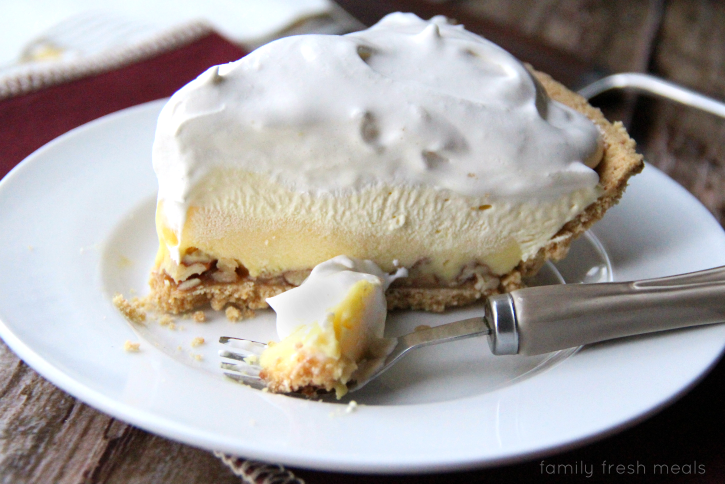 Triple-Layer Eggnog Pie - FamilyFreshMeals.com---