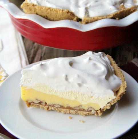 Triple Layer Eggnog Pie --- FamiyFreshMeals.com