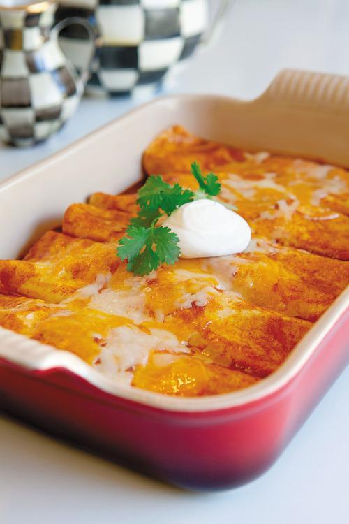 Thanksgiving Leftover Recipes - FamilyFreshMeals.com -Turkey Cheese Enchiladas
