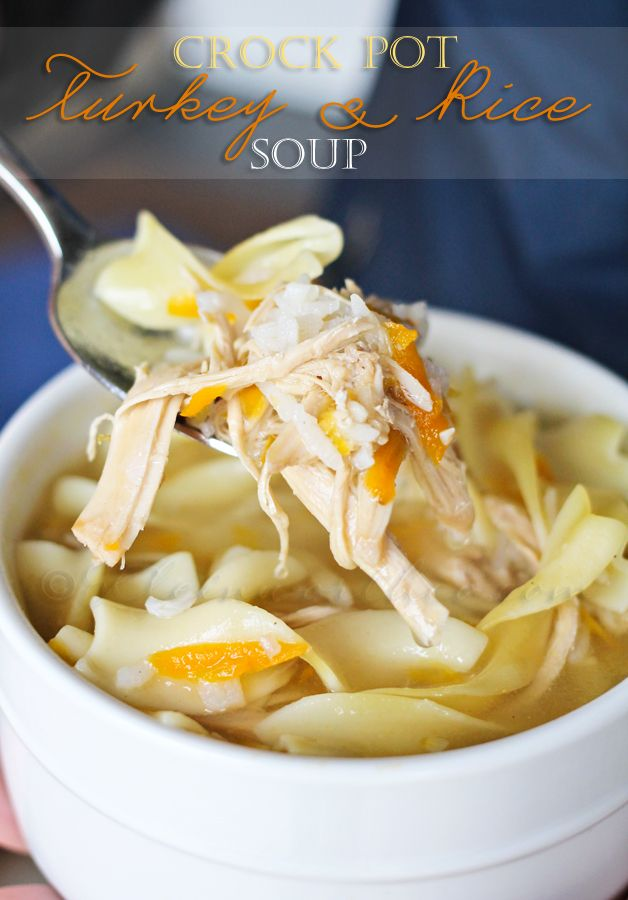Thanksgiving Leftover Recipes - FamilyFreshMeals.com - Crockpot Turkey Rice Soup