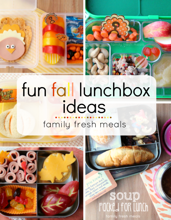 fun fall lunchbox ideas -  familyfreshmeals.com