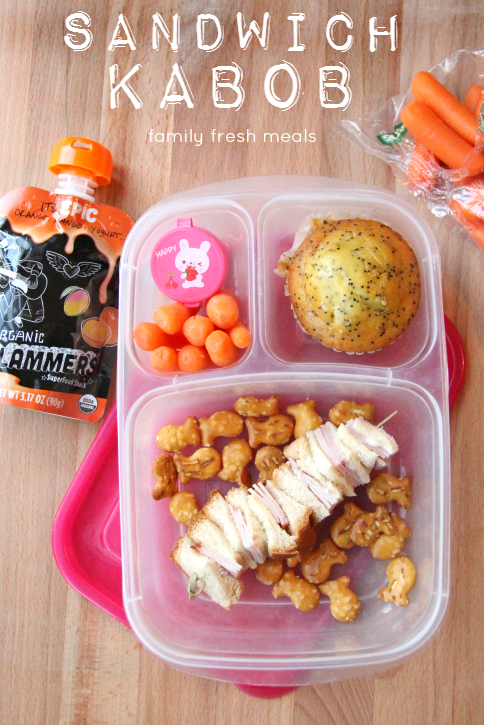 week 20 fun lunchbox ideas - familyfreshmeals.com -- fun lunch idea sandwich kabob