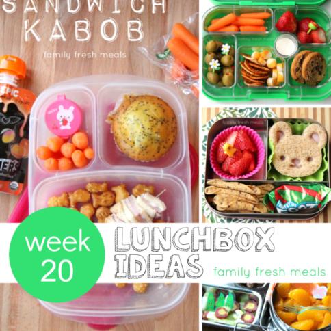 week 20 fun lunchbox ideas - familyfreshmeals.com --