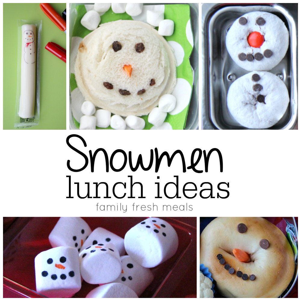 Fun Christmas Food Ideas for lunchboxes - familyfreshmeals.com -