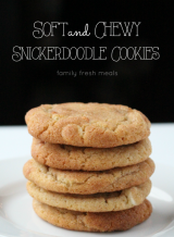Soft and Chewy Double Chip Snickerdoodle Cookies --- familyfreshmeals.com --- best recipe ever!