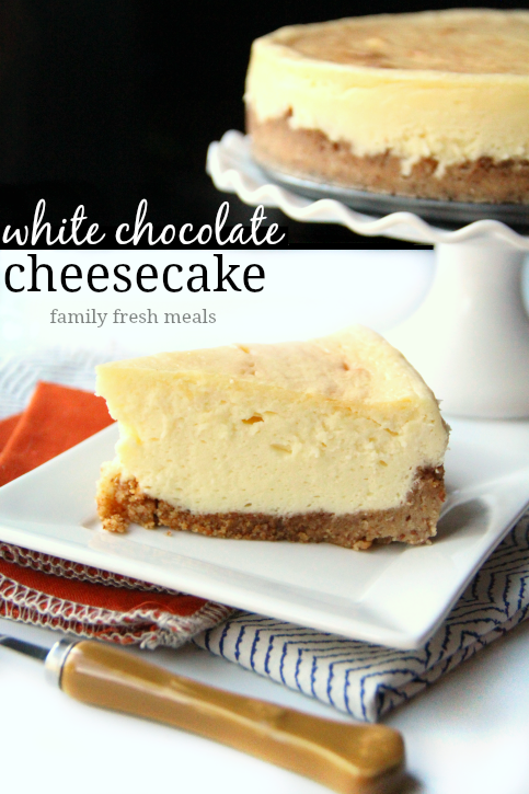 White Chocolate Cheesecake Recipe - FamilyFreshMeals.com -