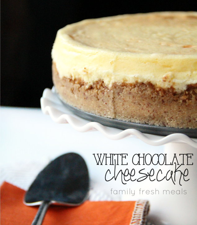 White Chocolate Cheesecake Recipe - FamilyFreshMeals.com --Fabulous Cheesecake Recipe! -FB