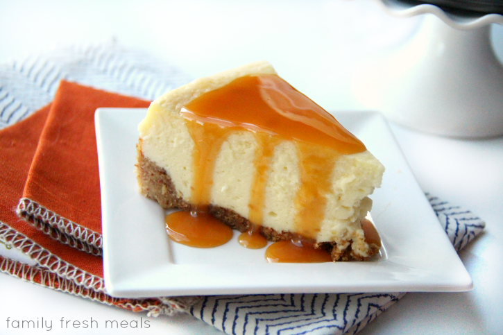 White Chocolate Cheesecake with Almond Crust - YUM!