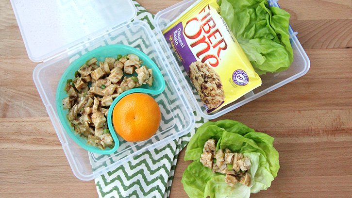 50 healthy work lunch ideas - FamilyFreshMeals.com - Asian Chicken Salad Lettuce Cups -