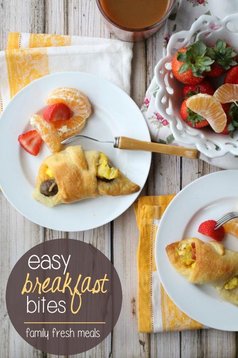 Easy Breakfast Bites -Quick and easy family breakfast -- FamilyFreshMeals.com --