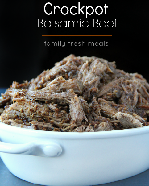 Easy Crockpot Balsamic Beef Recipe - Family Fresh Meals recipe