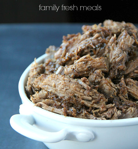 Easy Crockpot Balsamic Beef Recipe - FamilyFreshMeals.com