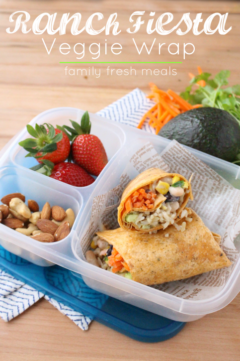 Easy Fiesta Ranch Veggie Wrap - Packed this healthy wrap for lunch!!