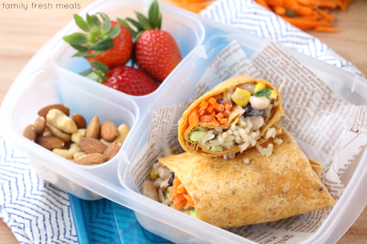 Easy Ranch Fiesta Veggie Wrap - Family Fresh Meals