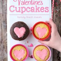 Easy Heart Valentine Cupcakes