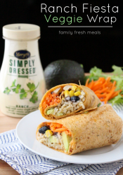 Easy Ranch Fiesta Veggie Wrap
