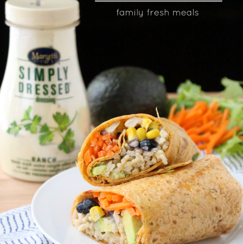 Easy Ranch Fiesta Veggie Wrap Recipe - FamilyFreshMeals.com -