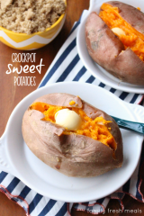 How to make Crockpot Sweet Potatoes - FamilyFreshMeals.com ---