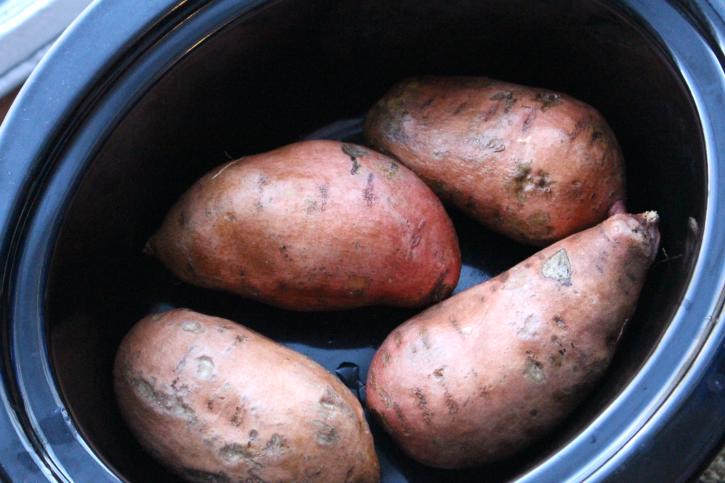 How to make Crockpot Sweet Potatoes - Step 1 - FamilyFreshMeals.com -