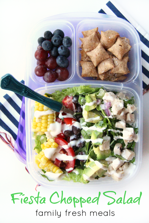 Over 50 healthy work lunchbox ideas family fresh meals 50 healthy work lunch ideas familyfreshmeals fiesta chopped salad packed for lunch forumfinder Choice Image