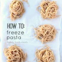 How To Freeze Pasta Portions