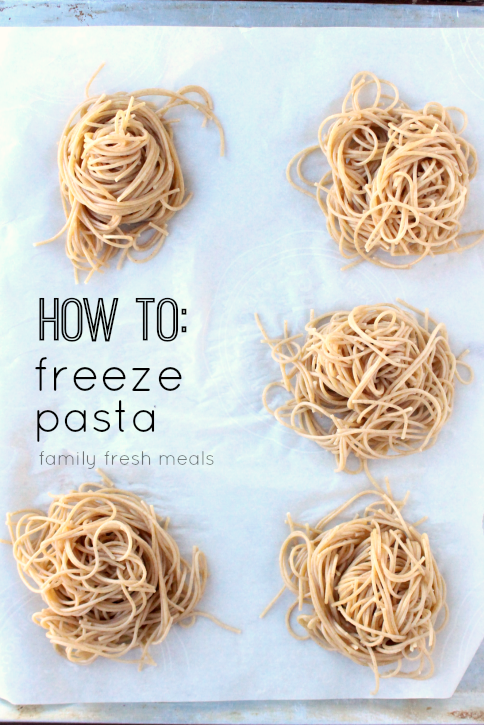 How To Freeze Pasta Portions - FamilyFreshMeals.com -