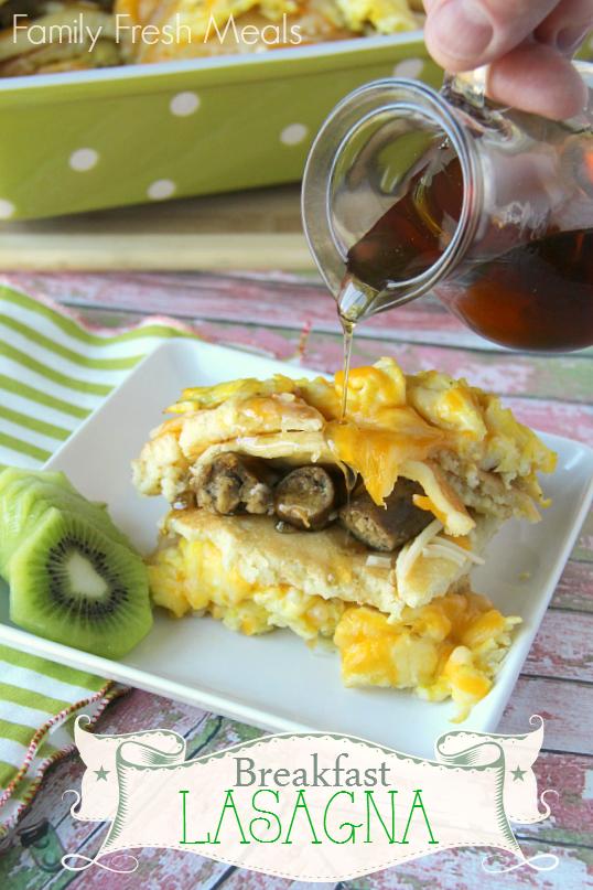 Easy Brunch Recipes - Breakfast Lasagna Casserole FamilyFreshMeals