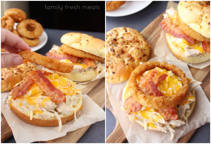 Crockpot Bacon Ranch Chicken Sandwiches - One of the best sandwiches around!