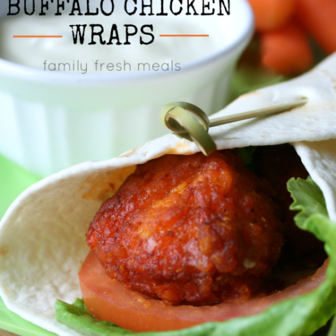 Easy Buffalo Chicken Wraps _ FamilyFreshMeals.com -