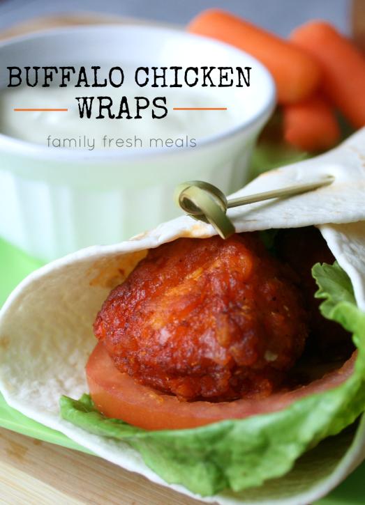 Easy Buffalo Chicken Wraps _ FamilyFreshMeals.com -