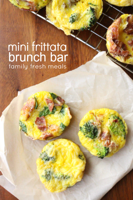 Mini frittata brunch bar - familyfreshmeals.com - perfect for breakfast, brunch or a FUN dinner! ---