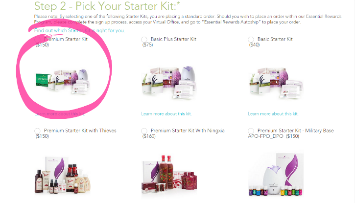 Young Living Starter Kit - pick your starter kit