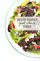 Apple Walnut Goat Cheese Salad - familyfreshmeals.com -- The perfect spring salad!