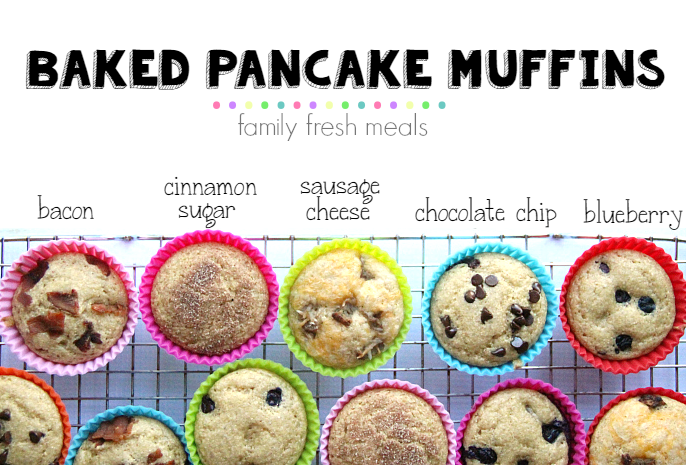 Easy Brunch Recipes - backed pancakes muffins FB