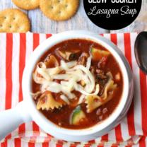 Hearty Slow Cooker Lasagna Soup