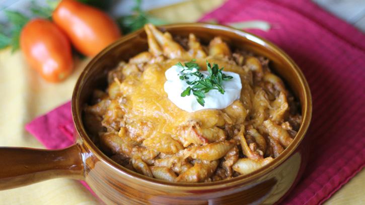 Slow Cooker Taco Pasta_- FamilyFreshMeals.com