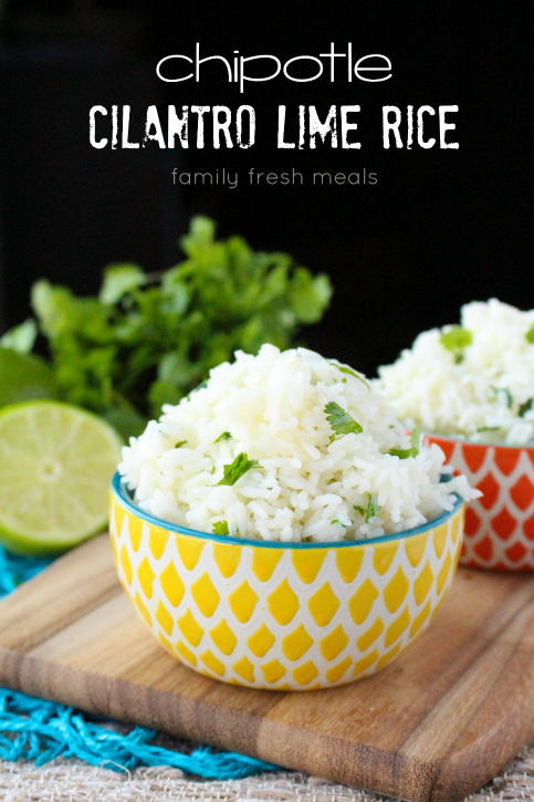 Two bowls of Copycat Chipotle Cilantro Lime Rice