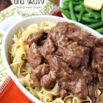 Easy Crockpot Beef Tips with Gravy