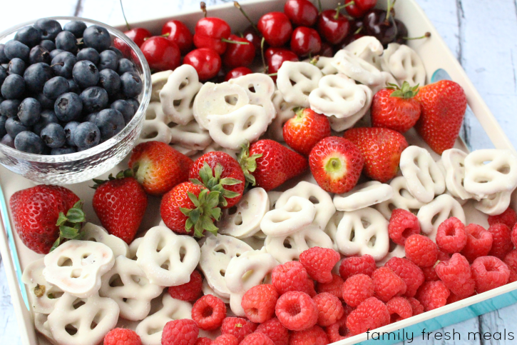 Easy Flag Fruit Dessert - Family Fresh Meals --