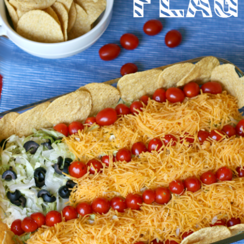 Easy Taco Salad Flag - Fun July 4th Food Ideas - Family Fresh Meals