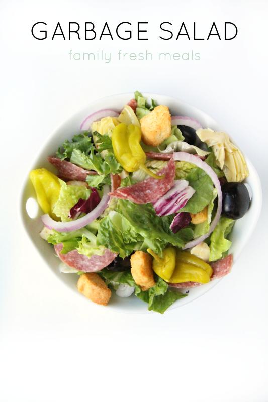 Garbage Salad - FamilyFreshMeals.com --