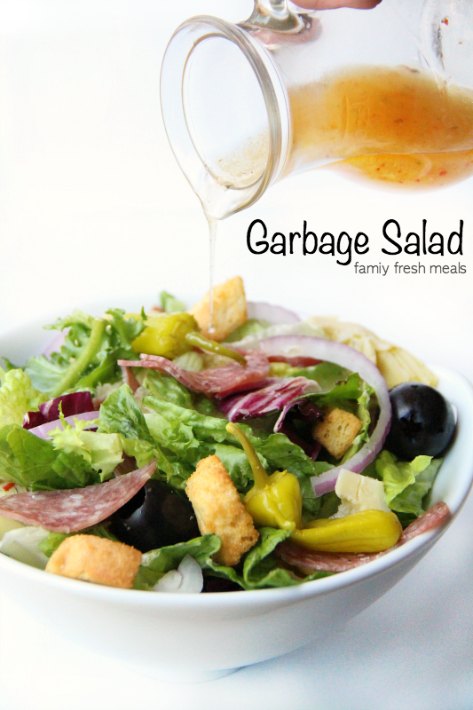 Garbage Salad Recipe- FamiyFreshMeals.com -