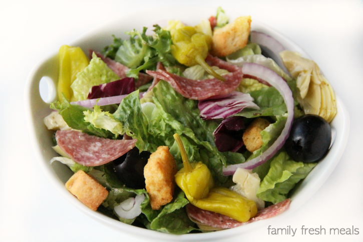 Garbage Salad recipe - Such a yummy salad! - FamilyFreshMeals.com -