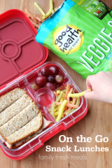 On the Go Snack Lunches - Family Fresh Meals --