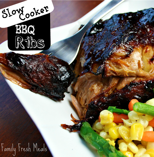 Slow Cooker Barbecue Ribs || Family Fresh Meals