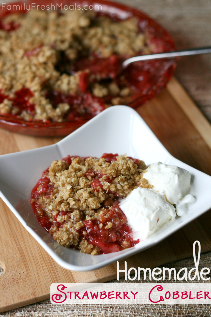 Strawberry Cobbler Serve with ice cream
