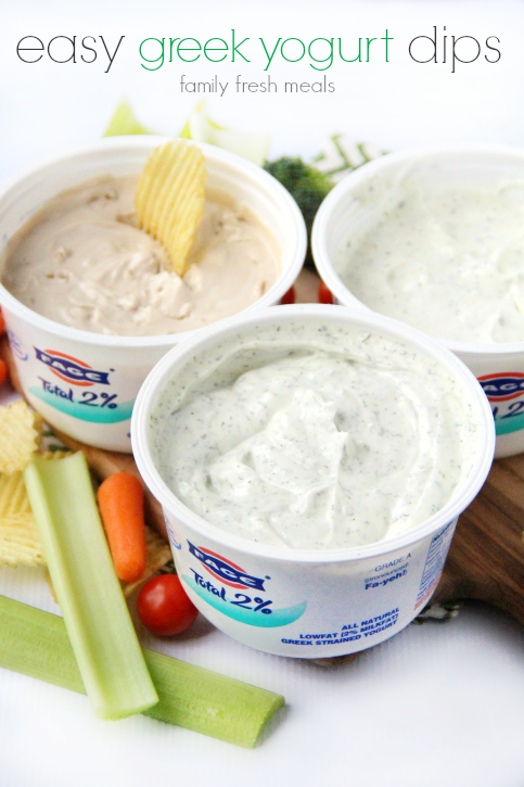easy greek yogurt dips - familyfreshmeals.com
