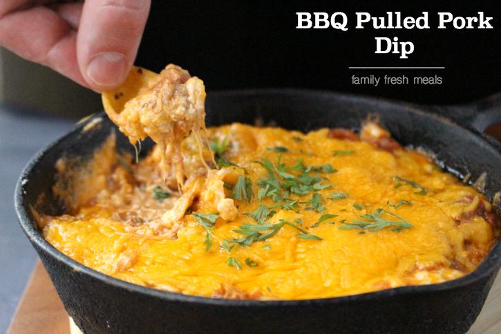 Cheesy BBQ Pulled Pork Dip - Enjoy!