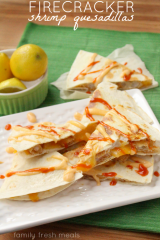 Firecracker Shrimp Quesadillas - FamilyFreshMeals.com